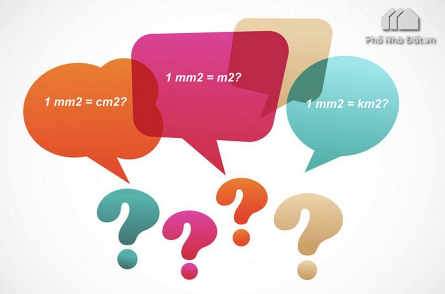 1 Milimet vuông (mm2), 1 centimet vuông (cm2) bằng bao nhiêu m2, dm2, ha, km2 ? #2020